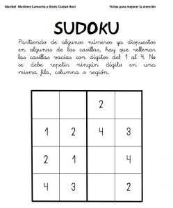 sudoku números